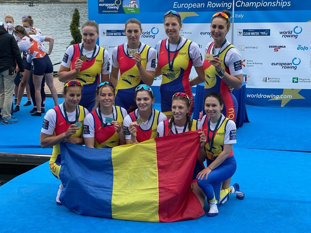 România a câștigat 6 medalii la Campionatele Europene de Canotaj din Italia