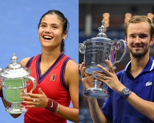 Emma Răducanu și Daniil Medvedev sunt campionii US Open 2021